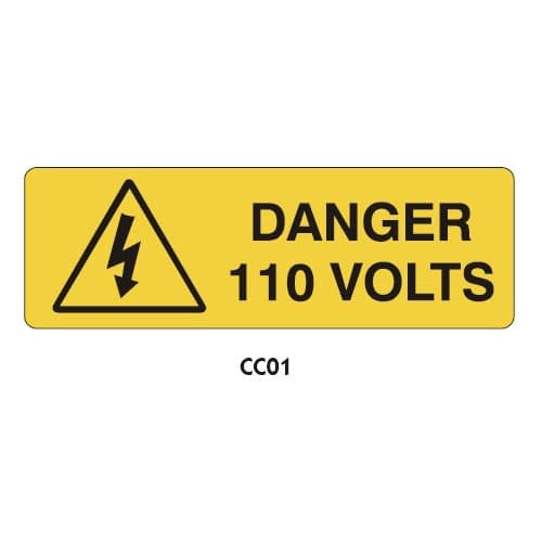 Warning Labels - Danger 110 Volts